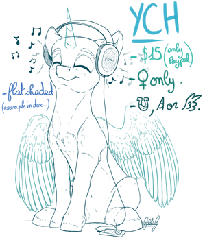 [CLOSED] 'Music' YCH (0/2 slots) by GaelleDragons