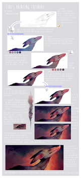 my painting process by parrotte