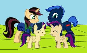 Crazy C4 and Jennifer's Foals by Imp344