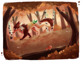 Autumn comes by Echacharpe