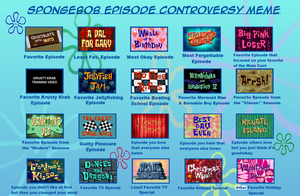 Spongebob Episode Controversy Meme by PurfectPrincessGirl