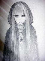 The Hooded Girl, A Witch? by marshybarks