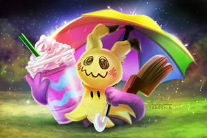 Unicorn Frappuccino Mimikyu - Paint Along