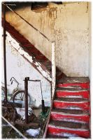 The Red Stairway by erbphotography