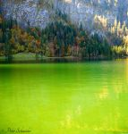 Autumn on the green lake. by Phototubby