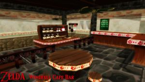 (MMD/FBX Stage) Windfall Cafe Bar Download by SAB64