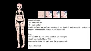 MMD TDA Face and Body texture Download *Update* by dianita98