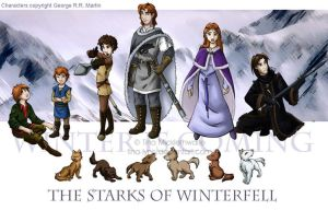 The Starks of Winterfell by tina-lynn