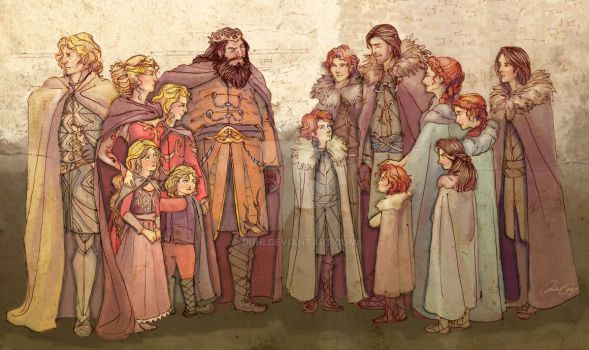 Where It All Began - Starks, Lannisters, Baratheon by duhi