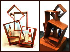 Wine Bottle Display by morbidillusion666