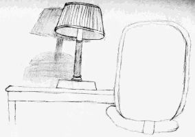 Lamp and chair by GeekyLogic