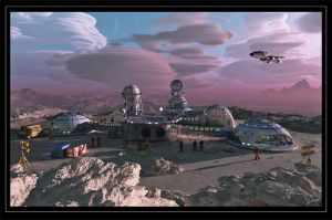 Outpost On A Remote Planet by neanderdigital