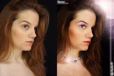 Luxurious Brin Kennedy before after by lowlivier
