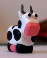 Polymer Clay Cow by serenainwonderland