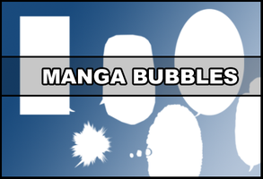Manga Speech Bubbles by Faeth-design