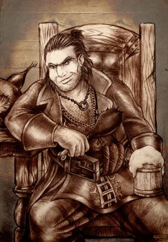 Dragon Age 2 Varric Tethras by Agregor