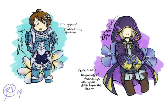 FE Flowers: Frederick and Tactician by SamuelFuery