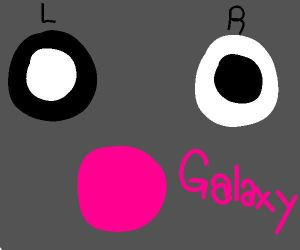 Moxie's eye colors and Galaxy by Woodpaw