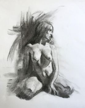 Figure charcoal study / Practice 35 by AnaviTil