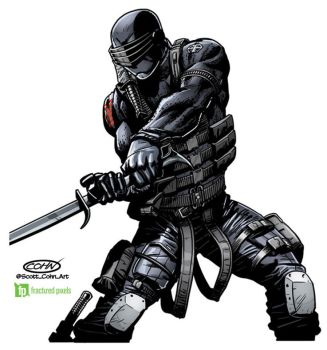 Snake Eyes GiJoe 50th Anniversary Toy Packaging by ScottCohn