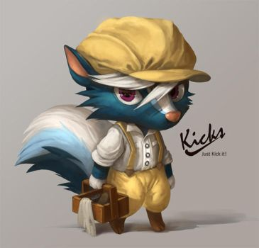 Kicks (Fan art) by Silverfox5213