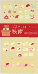Akisame Icon Set by Cappippuni