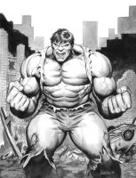 Hulk_black and white by Habjan81