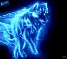Wolf patronus - Harry potter by gudikano