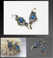 Conwenna- wire wrapped earrings by mea00