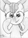 Applebloom With Butterfly on Nose by TheLordofPies