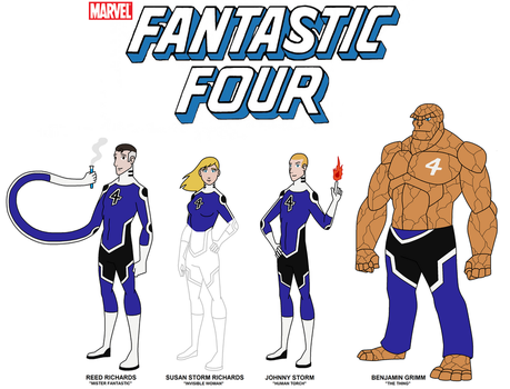 Marvel - The Fantastic Four 2017 by HewyToonmore