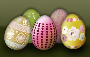 Easter eggs in colors by PajkaBajka