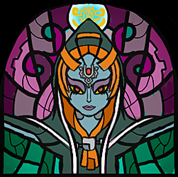WW Midna Stained Glass by Hikolol35