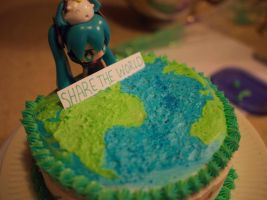 Sharing the world with our Cake! by BakaBakaGirls