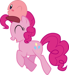 Pinkie Pie and Kirby by chipmagnum