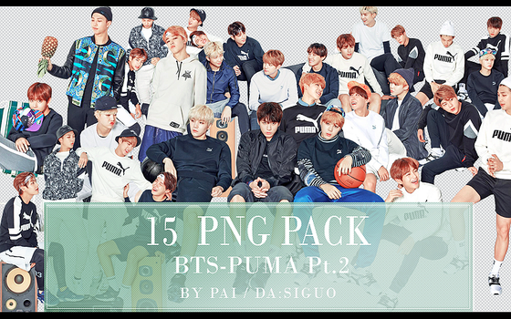 BTS PUMA PNG PACK #15 by Pai by Siguo