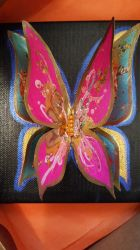 Original 3D gold leaf butterfly by KaloOne