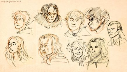 LotR Doodles - Two Towers by myluckyseven