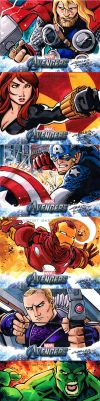 Avengers sketch cards by KidNotorious