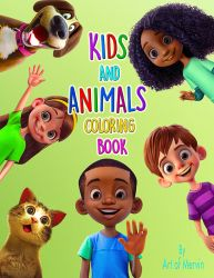 Kids and Animals Coloring Book by JJwinters