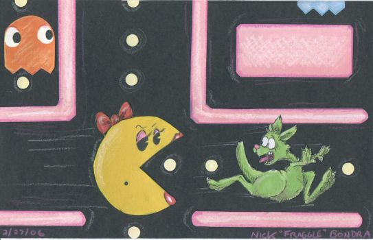 Ms. Pacman Vs. Duncan I by Phraggle