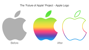 Colorful Apple Logo Concept by ccard3dev