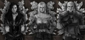 Witcher Triptych by CloudsDevourer