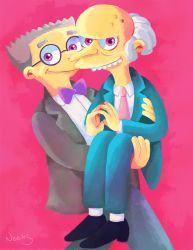 Mr. Burns and Smithers 5 by MissNeens