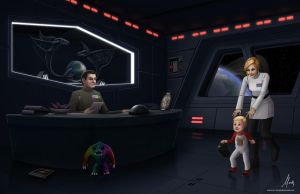 Era of Rebellion: Claudius, Sierra and baby Bruce by Mauricio-Morali