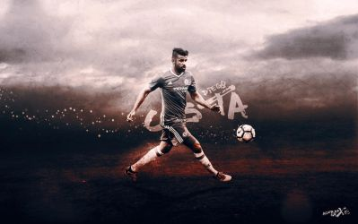 diego costa by Achrafgfx