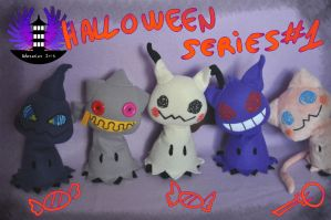 Halloween Mimikyu plushies Series  #1