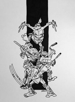 TMNT Heroes In A Half Shell by BillWalko