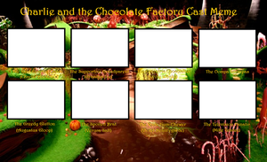 Chocolate Factory Cast Meme Template by Kitty-McGeeky97