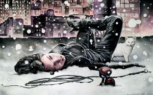 Catwoman Rooftops by Eric Meador by Meador